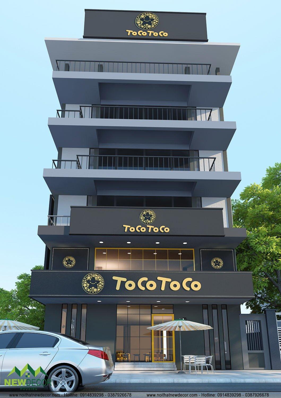 Thiết kế quán trà sữa Tocotoco