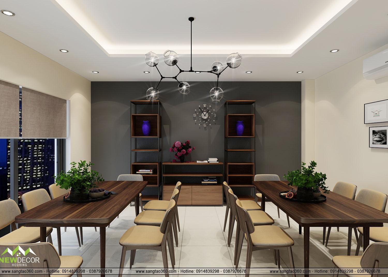 thiết kế khu vực nghỉ ngơi với phòng ăn gọn gàng