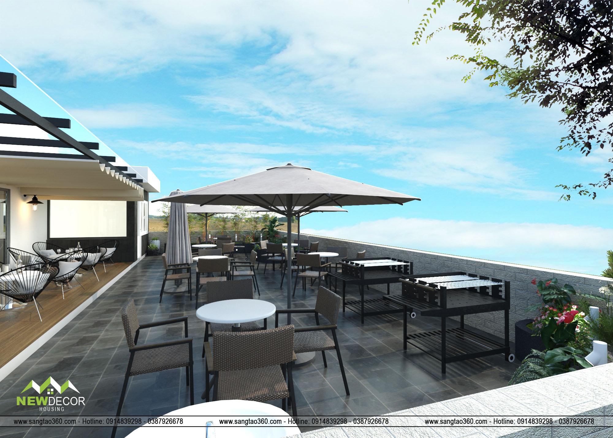thiết kế cảnh quan sân vườn trên sân thượng
