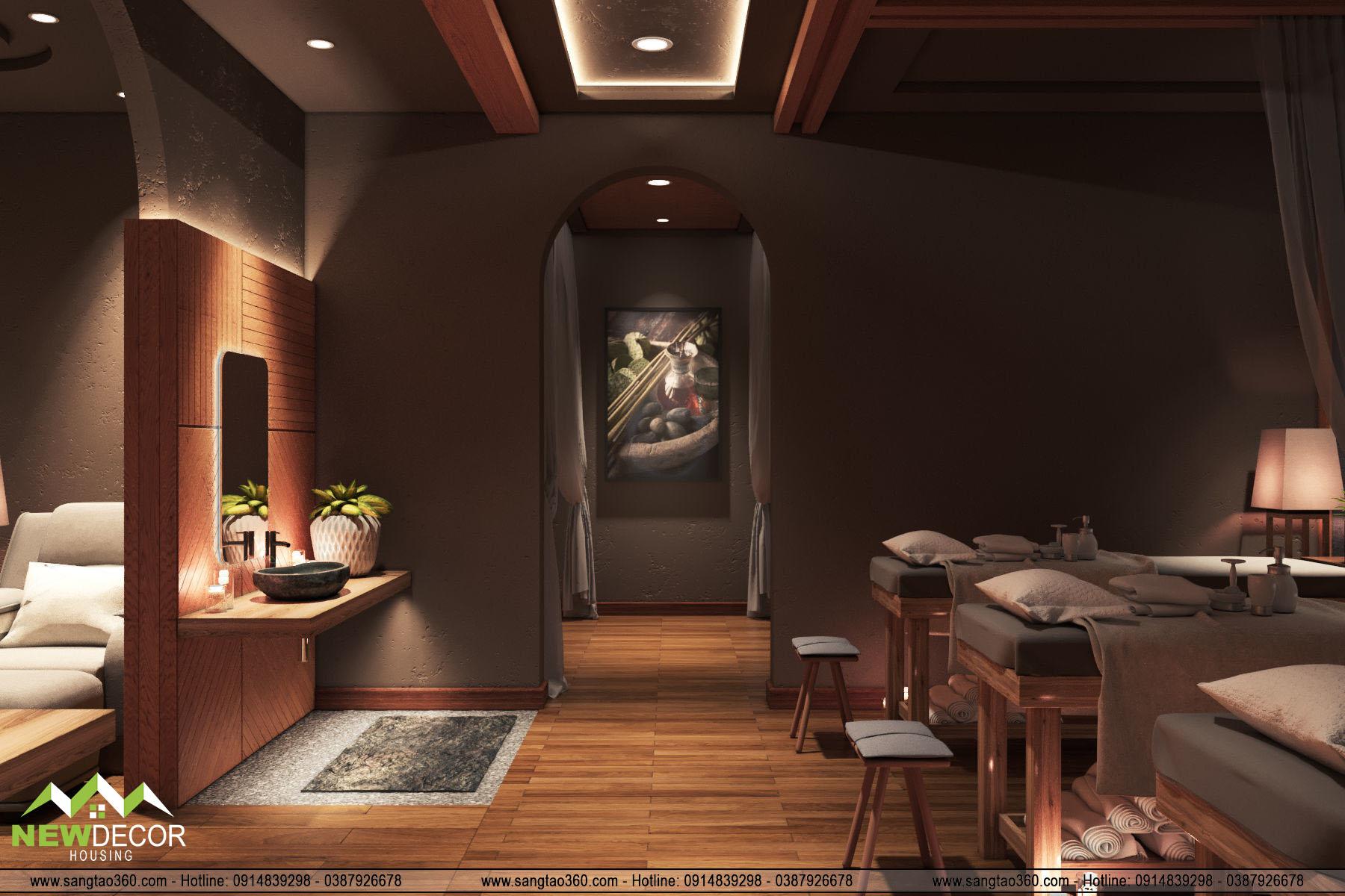 Thiết kế Beauty Spa - chị Hằng - Gia Lâm
