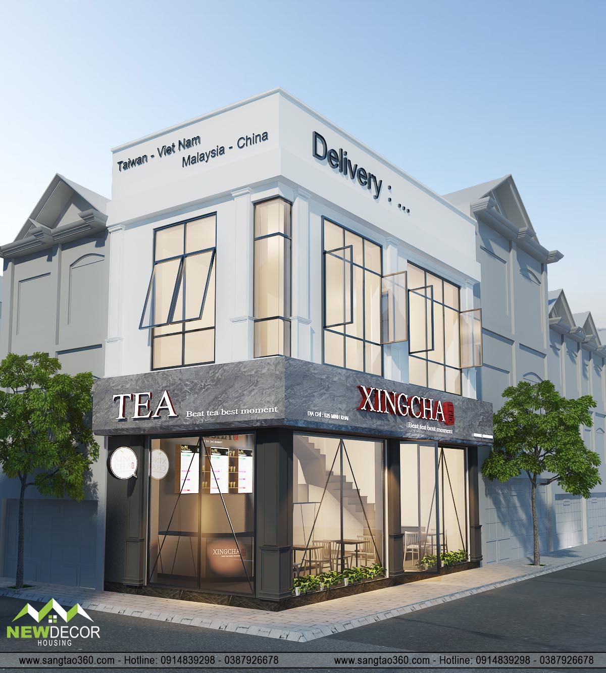 Thiết kế quán trà sữa Xingcha