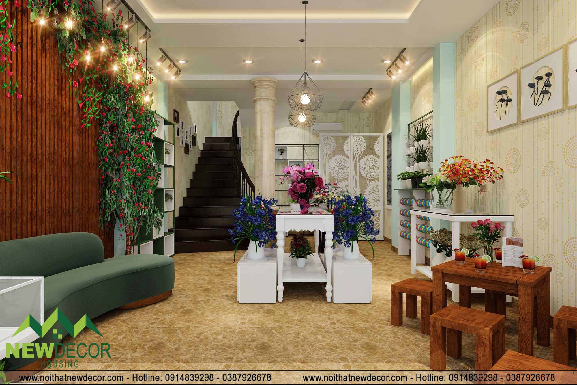 Thiết kế shop hoa tươi đẹp