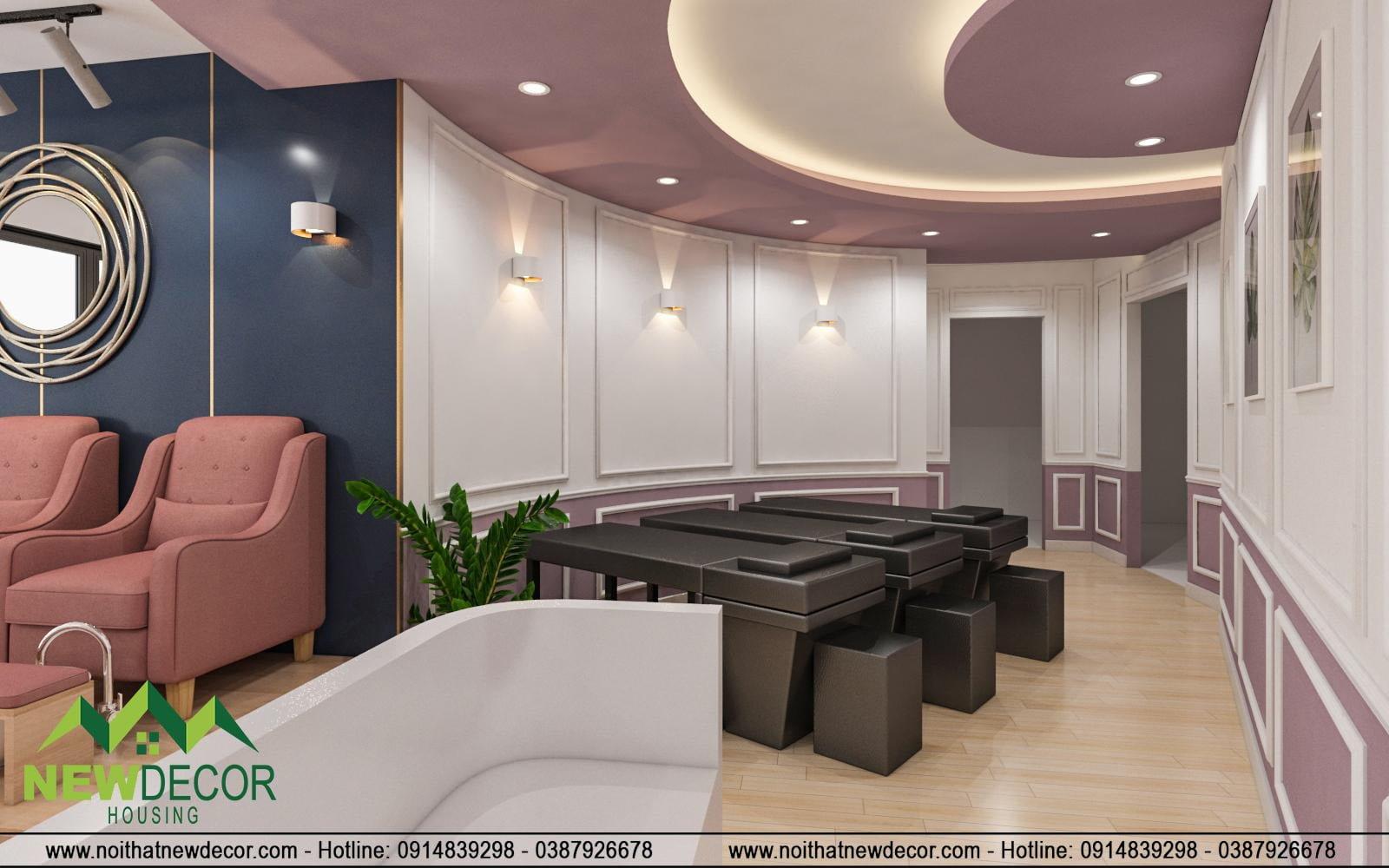 Khu vực massage tiện nghi
